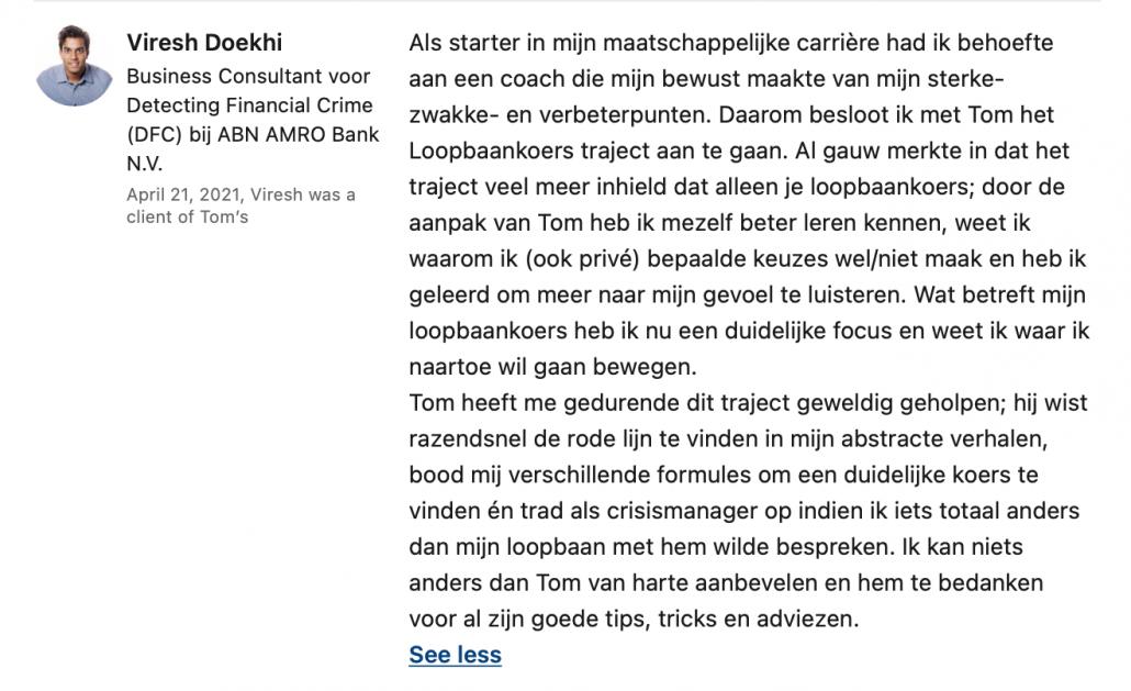 Loopbaancoach Amstelveen